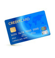 credit card isolated on white background vector image