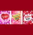 design poster happy valentine s day valentines vector image vector image