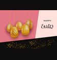 easter greeting card template on abstract vector image vector image