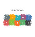 elections cartoon template with flat elements vector image