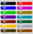 File GIF icon sign Set from fourteen multi-colored