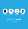 flat icon cacao set of dessert delicious wrapper vector image vector image