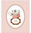 Flowers with frames - card vector image