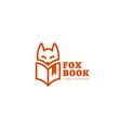 fox book logo vector image vector image