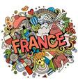 france hand drawn cartoon doodles vector image vector image