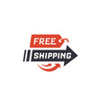 free shipping vector image vector image