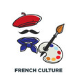 french culture symbols france beret and vector image