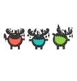 funny moose wishes Merry Christmas vector image vector image