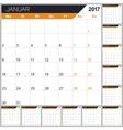 German Calendar 2017 vector image