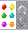glass christmas toy on a transparent background vector image vector image