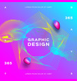 glowing particles liquid dynamic colorful vector image vector image