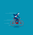 growth business man ride bicycle vector image vector image