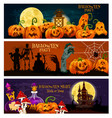 halloween holiday zombie night party banner design vector image vector image