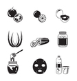Health Skin Face And Body Icons Set Monochrome vector image vector image