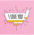 i love you retro design element in pop art style vector image vector image