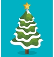 icon tree christmas snow design vector image