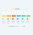 infographic template 6 steps square design vector image vector image