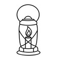 lantern candle icon outline style vector image
