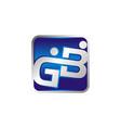 letter gb logo design template vector image