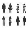 male and female bathroom vector image vector image