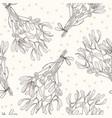 mistletoe seamless pattern sketch line art vector image vector image