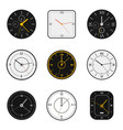 modern watch face clock round scale faces modern vector image vector image