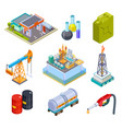 oil gas industry isometric fuel storage oil vector image