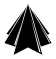 origami mountain icon simple black style vector image