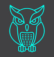owl line icon halloween and scary animal sign vector image vector image