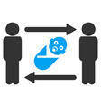 persons newborn exchange icon vector image