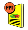 ppt file icon cartoon vector image vector image