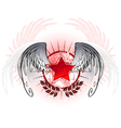 red star painted with paint vector image vector image