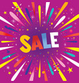 sale banner poster with burst explosion vector image vector image
