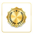 seal award gold icon blank medal isolated white vector image vector image