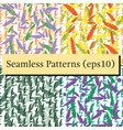 Seamless pattern background with autumn leaves on