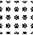 seamless pattern with footprints background vector image vector image
