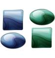 Semiprecious stones vector image