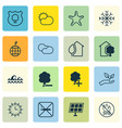 set of 16 eco icons includes home sun power vector image vector image