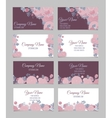 Set of four double-sided floral business cards vector image vector image