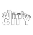 skyline city abstract town industrial landscape vector image vector image