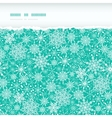Snowflake Texture Horizontal Torn Seamless Pattern vector image vector image