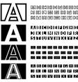 square contour font alphabets vector image vector image