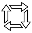 Square Recycle Stroke Icon vector image