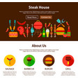 steak house web design vector image