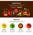 steak house web design vector image vector image