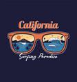 summer sunglasses reflective ocean wave vector image vector image
