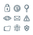 theft identity set icons vector image vector image