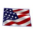 united states both dakota full american flag vector image