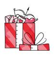 valentines gift box cartoon vector image vector image