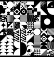 vintage retro bauhaus style seamles pattern vector image vector image